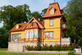 Wooden house kuressaare estonia traditional saaremaa island Royalty Free Stock Photos