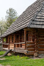 Wooden house old museum of folk architecture in uzhhorod Royalty Free Stock Photo
