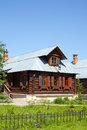 The wooden house in rural style suzdal russia Stock Photography