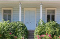 Wooden house s front porch of a country Royalty Free Stock Photos