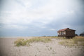 Wooden house on the sea beach Royalty Free Stock Photo