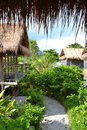 Wooden house in tailand on lipe island Stock Photography