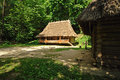 Wooden house in ukrainian skansen Royalty Free Stock Photography