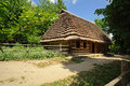 Wooden house in ukrainian skansen Stock Photos