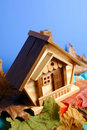 Wooden House under Blue Sky Stock Image