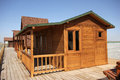 Wooden houses new house made ​​of wood Royalty Free Stock Image