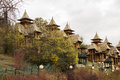 Wooden houses on Zlatibor Royalty Free Stock Photo
