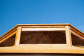 Wooden housing construction top part Royalty Free Stock Photo