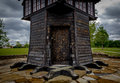 Wooden Hut in Park Royalty Free Stock Photo