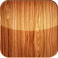 Wooden icon with glare vector illustration of Royalty Free Stock Photo