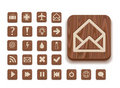 Wooden icon set Stock Images