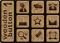 Wooden icons Stock Photo