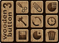 Wooden icons Stock Image