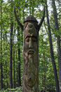 Wooden idol worshiped by pagans Stock Image
