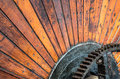 Wooden Industrial Wheel Royalty Free Stock Photo