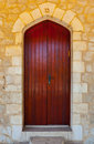Wooden Israel Door Royalty Free Stock Photo