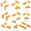 Wooden joints the butt joint is an easy woodworking joint the eight basic types of are butt dado rabbet lap dovetail Stock Photography