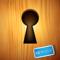 A wooden Keyhole Stock Photo
