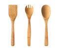 Wooden kitchen utensils houseware isolated on white background Stock Image
