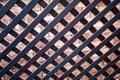 Wooden lattice Royalty Free Stock Photo