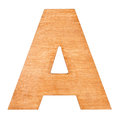 Wooden letter A Royalty Free Stock Photo