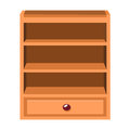 Wooden lockers isolated illustration on white background Stock Images