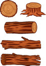 Wooden log collection Royalty Free Stock Photo