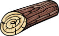 Wooden log or stump cartoon clip art illustration of Royalty Free Stock Image