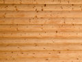Wooden log wall background grained Stock Photo