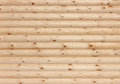 Wooden logs wall background texture new round natural Stock Photos
