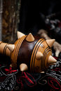 Wooden mace detail of a Royalty Free Stock Images