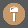 Wooden mallet flat icon