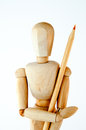 Wooden mannequin Stock Photo
