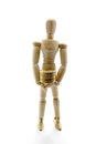 Wooden mannequin and money Royalty Free Stock Photos