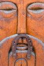 Wooden mask with horseshoe Royalty Free Stock Photo