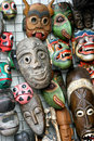 Wooden Masks Stock Photography