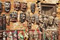Wooden Masks, Bhaktapur, Nepal Stock Images