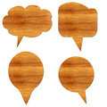 Wooden massage  icons. Royalty Free Stock Photography
