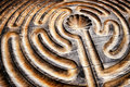 Wooden maze close up of a Royalty Free Stock Image