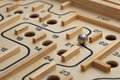 Wooden Maze Game Stock Images