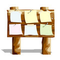 Wooden message board Royalty Free Stock Photo