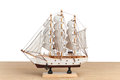 Wooden model of ship Royalty Free Stock Photo