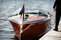 Wooden Motor Boat Royalty Free Stock Photo