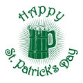 Wooden mug with beer. Happy St. Patricks Day