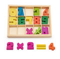 Wooden numbers Royalty Free Stock Photo