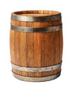 Wooden oak barrel isolated on white background Royalty Free Stock Photo
