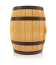 Wooden oaken barrel for beverages storing d rendered illustration on white background clipping path included Stock Image