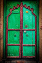 Wooden old door vintage background retro hipster styled image of texture Stock Photos