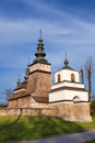 Wooden orthodox church in owczary poland from xvii century Stock Image