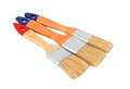 Wooden paint brush Stock Photo